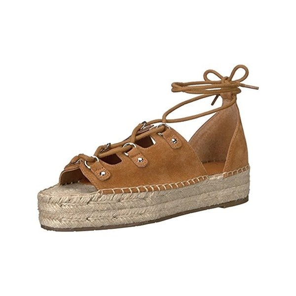 Marc Fisher Womens Vally Flatform Sandals Suede Espadrille