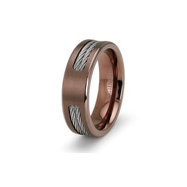 Double Cable Bronze Titanium Ring