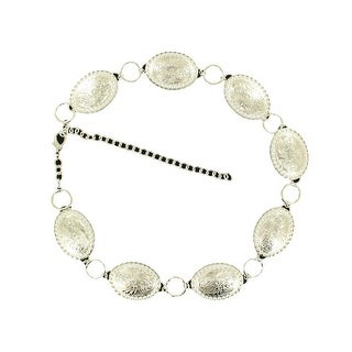 Nocona Western Belt Womens Wide Oval Conchos Chain Silver N3426436