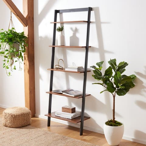 "Safavieh Cullyn 5-Tier Leaning Etagere Bookcase - 27.6"" W x 14"" L x 76"" H"