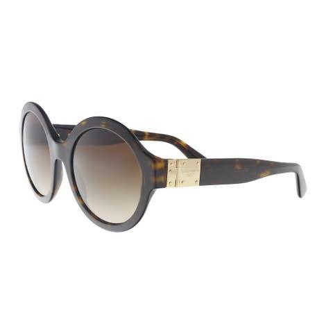 Dolce & Gabbana DG4331 502/13 Havana Round Sunglasses - 53-21-140