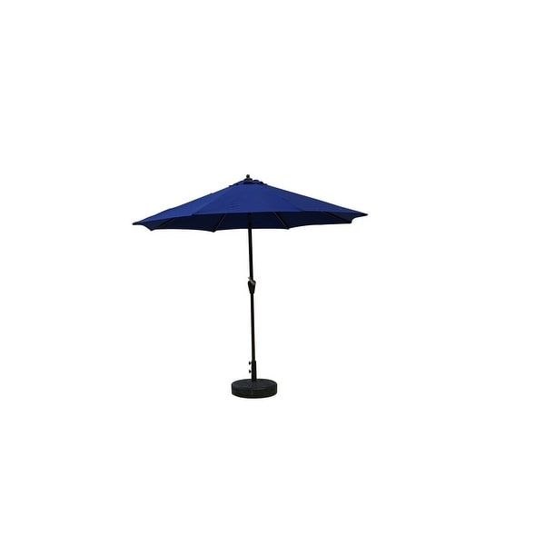 9ft Outdoor Patio Market Umbrella with Windvent Automatic Tilt, Dura-Fast Cobalt Blue - N/A