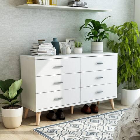 Carson Carrington Gjovik Modern White 6-drawer Dresser