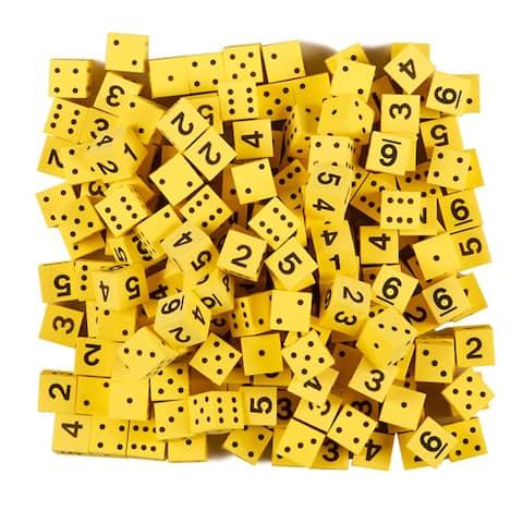 5/8In Yellow Foam Dice W/ Spots/Num