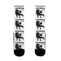 LookHUMAN Caffeinosaur US Size 7-13 Socks