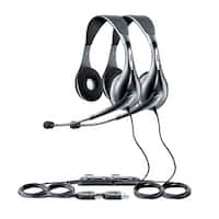 Jabra Voice 150 Duo Stereo Corded Headset (2 Pack) w/ USB Connection & Noise-Canceling Microphone