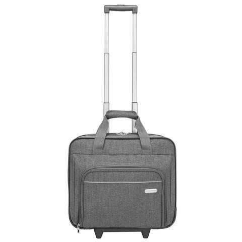 "Targus 15.6"" Metro Rolling Laptop Case (Gray) - TRR00304GL"