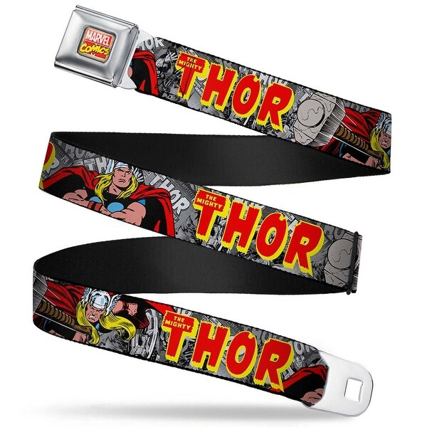 Marvel Comics Marvel Comics Logo Full Color The Mighty Thor Action Poses Seatbelt Belt