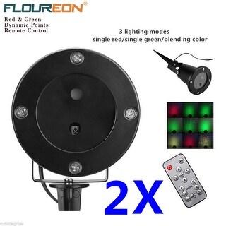 2x Outdoor Waterproof RG LED Laser Projector Light Garden Home Lighting +Remote