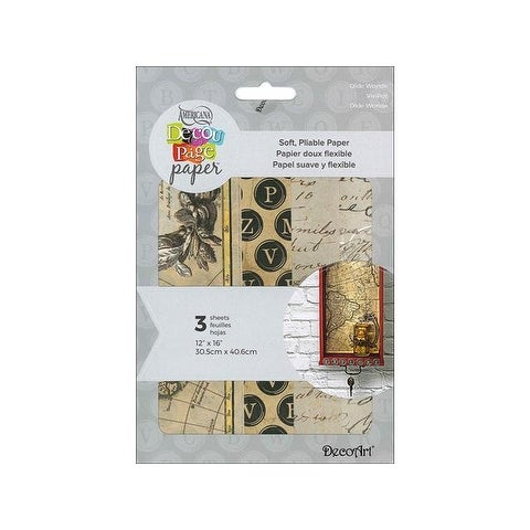 Decoart Decoupage Paper 12x16 Old Worlde
