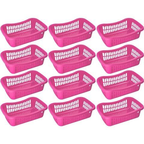 Large Plastic Storage Basket for Organizing Kitchen Pantry, Kids Room