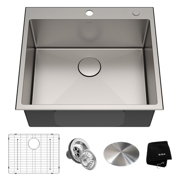 KRAUS Standart PRO Stainless Steel Topmount Drop-In Kitchen Sink. Opens flyout.