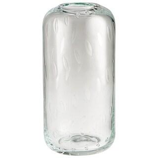 """Cyan Design 09978  Malibu 6"""" Diameter Glass Vase - Clear"""