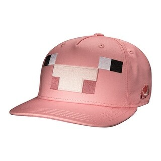 Minecraft Pig Mob Snap Back Hat - Pink