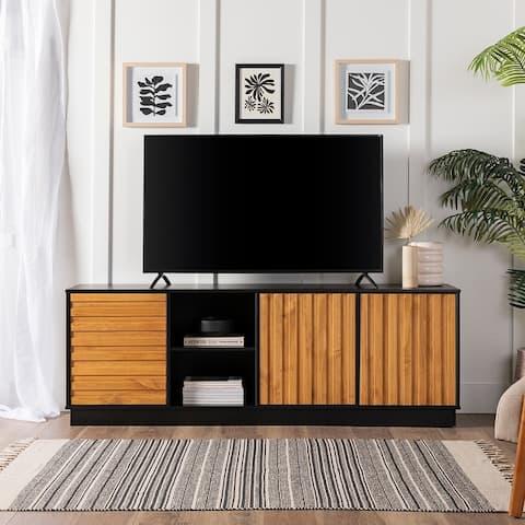 Carson Carrington 70-inch Two-Tone 3-Door TV Console