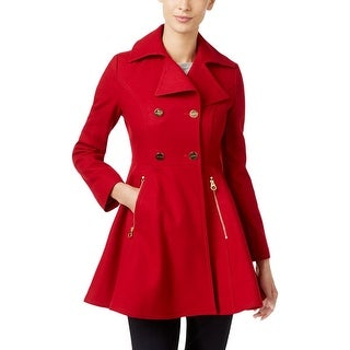 Laundry by Shelli Segal Womens Pea Coat Wool Double-Breasted