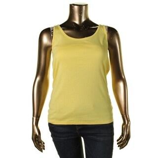 Lauren Ralph Lauren Womens Scoop Neck Solid Tank Top - XL