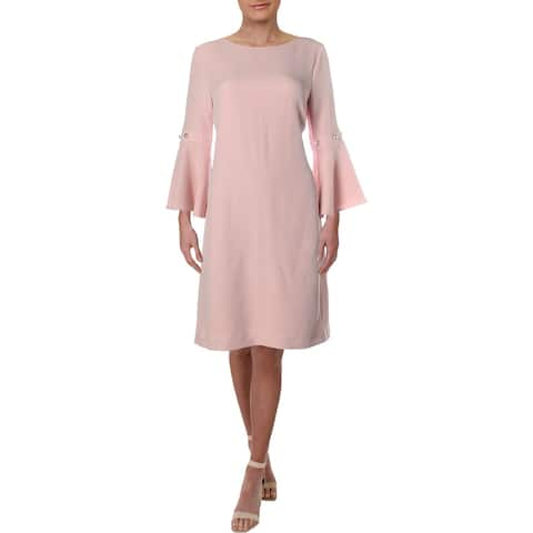 cf8e2d5ad5f Ivanka Trump Womens Party Dress Bell Sleeves Knee-Length - 12