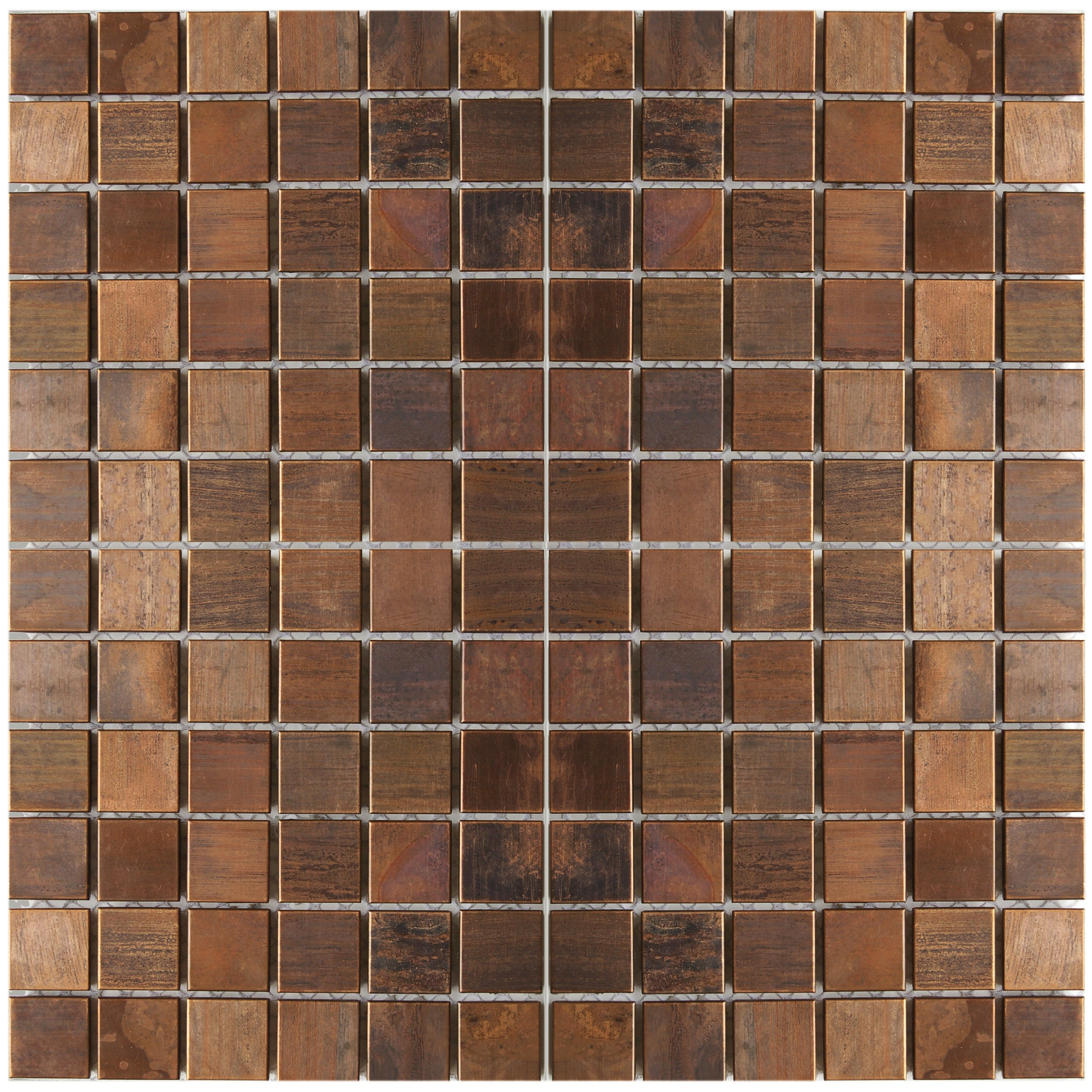 Small Square Antique Copper Tile 11 8x11 8 11 Tiles 10 63 Sqft Overstock 32656643