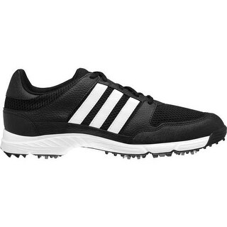 Adidas Men's Tech Response 4.0 Black/White/Dark Silver Metallic Golf Shoes 816568 / 672988
