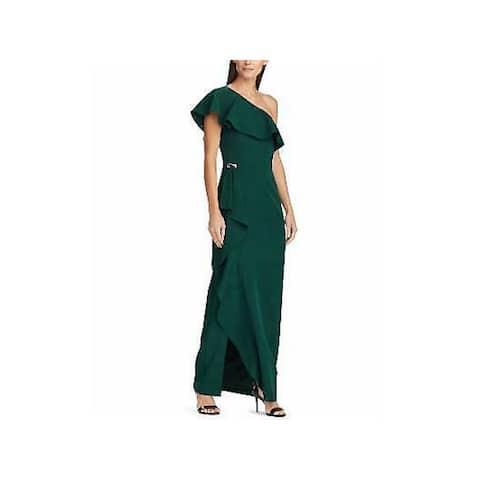 RALPH LAUREN Womens Green Full-Length Sheath Formal Dress Size 10