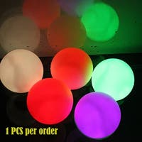 AGPtek  Mood Light Garden Deco LED Flashing Ball Floating Ball for Pool Ponds Parties 1 Pack