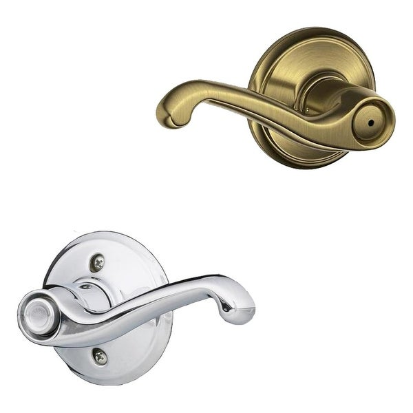 Schlage F40-FLA-LH Flair Left Handed Privacy Door Lever Set - Split Finish Only
