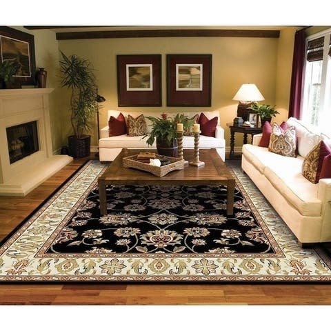 Copper Grove Sastamala Cream and Rust Bordered Persian Area Rug