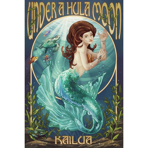 Kailua HI Under a Hula Moon - Mermaid - LP Artwork (Light Switchplate Cover)