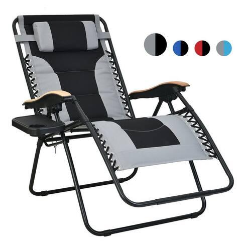 Oversized Padded Zero Gravity Reclining Foldable Lounge Chair