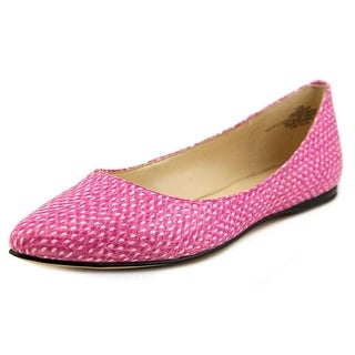 Nine West Speakup Women Pointed Toe Synthetic Pink Flats