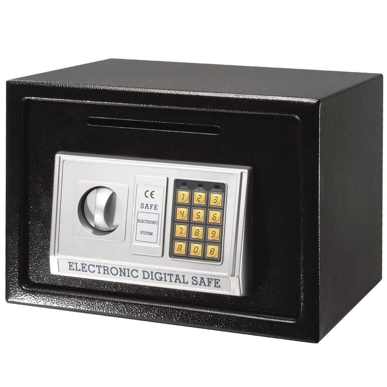 "Giantex 14"" Digital Depository Drop Cash Safe Box Gun Jewelry Home Hotel Security Lock B"