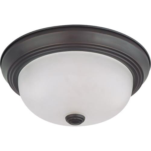 "Nuvo Lighting 60/3145 2 Light 11-3/8"" Wide Flush Mount Bowl Ceiling Fixture"