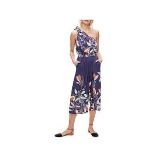 Free People Womens Romper Floral Print One Shoulder