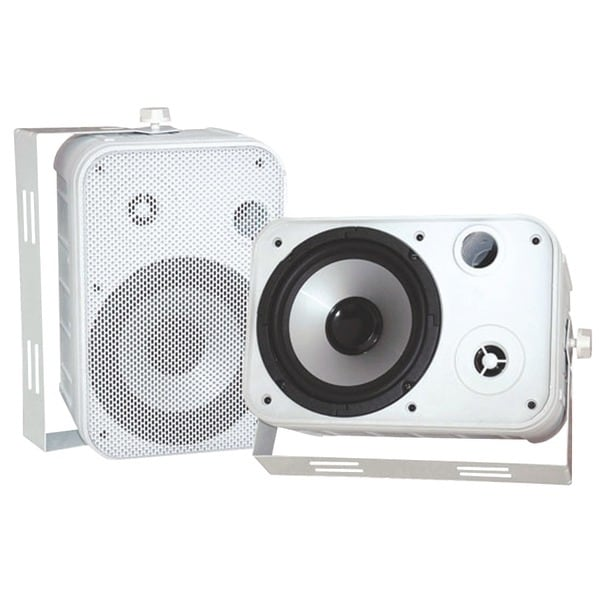 "PYLE PRO PDWR50W 6.5"" Indoor/Outdoor Waterproof Speakers (White)"