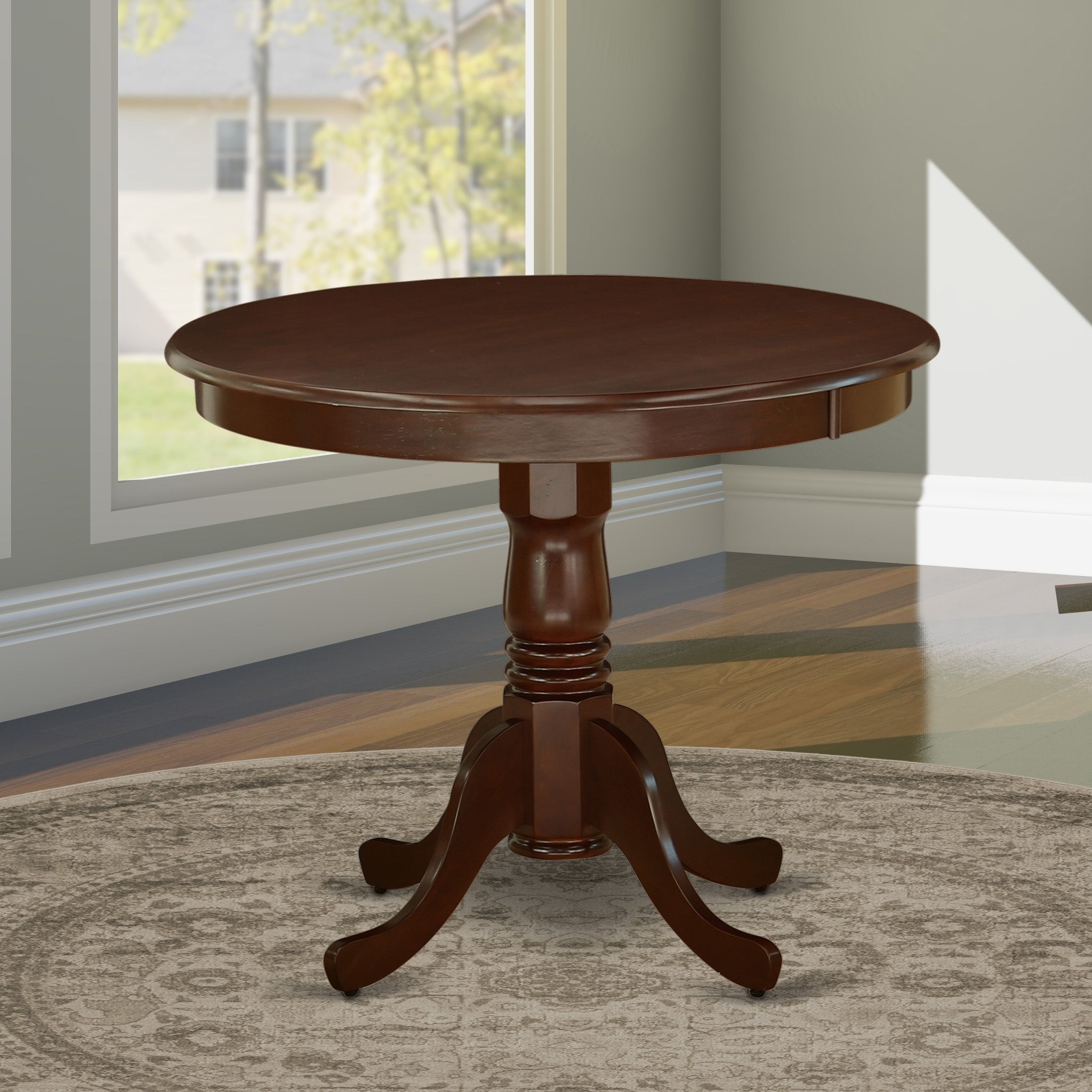Picture of: Ant Mah Tp Mahogany Antique Round 36 Inch Table Overstock 28181020
