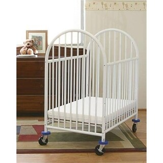 L A BABY 990 deluxe compact commercial grade crib with new features-