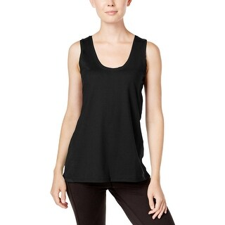 Gaiam Womens Tank Top Mixed-Media Stretch