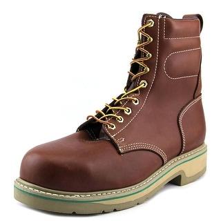 "Wolverine FootRests 8"" Plain Toe Men C Steel Toe Leather Work Boot"