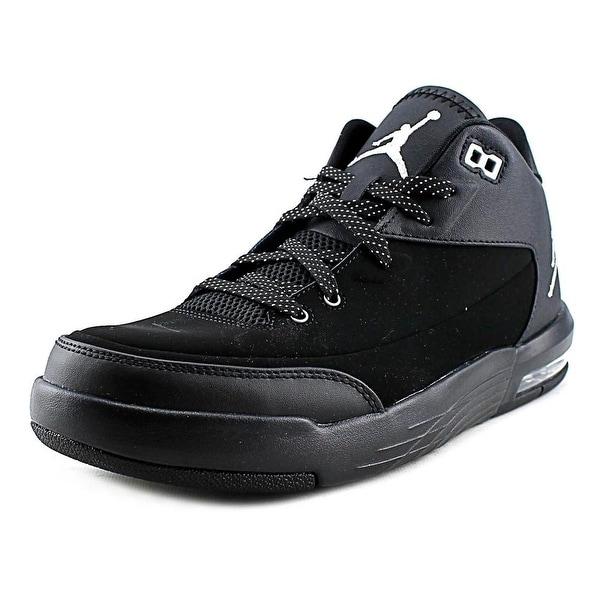 Jordan Flight Origin 3 Men Round Toe Leather Black Basketball Shoe