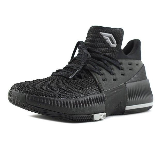 Adidas D Lillard 3 Youth Round Toe Synthetic Black Basketball Shoe