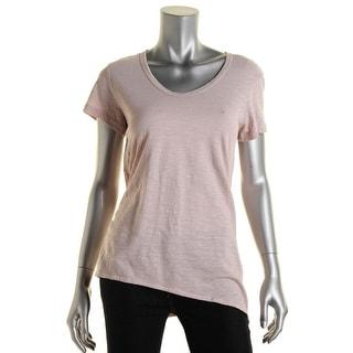 Wilt Womens Short Sleeve U-Neck Pullover Top