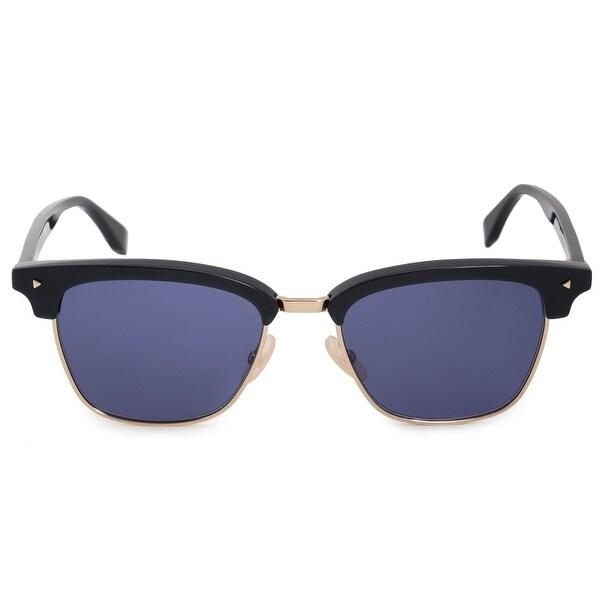 2181b0c9114 Shop Fendi Browline FFM0003S PJP KU 52 Rectangle Sunglasses - On ...