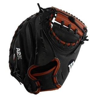 "Wilson Baseball 33.5"" M2 Catcher Glove Mitt Superskin RHT WTA2KRB19M2SS"