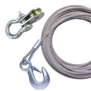 "Powerwinch Cable 50 X 7/32"" Universal Premium Replacement - P1096600AJ"