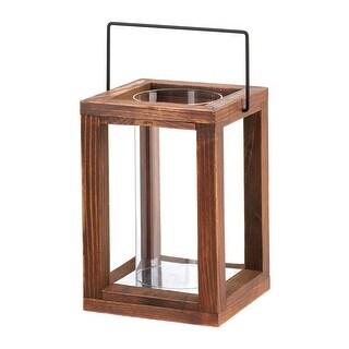 Wood Frame Hurricane Lantern