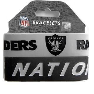 Oakland Raiders Rubber Wrist Band Set