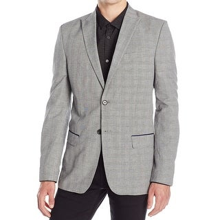 Calvin Klein NEW Gray Mens Size Medium M Slim Fit Two Button Blazer