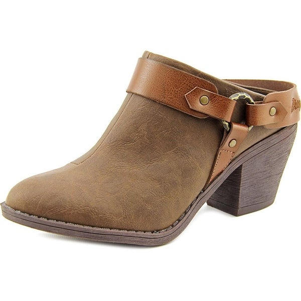 Blowfish Sangria Women Round Toe Synthetic Brown Mules