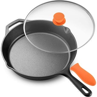 Link to Legend Cast Iron Skillet with Glass Lid & Silicon Handle Similar Items in Cookware